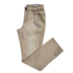 Chico's Platinum Denim Slim Leg Jeans Tan 1 New